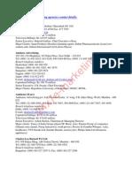 Advertising Agencies Contact Details