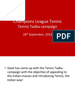 Champions League Tennis, launching in India