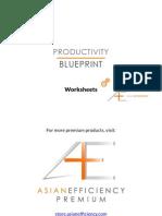 Productivity Blueprint Worksheet
