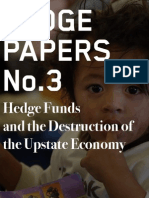 Hedge Clippers White Paper  No.3: Hedge Funds and the Destruction of the Upstate Economy