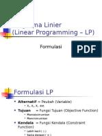 MMT ITS 02 Prog Linier - Formulasi