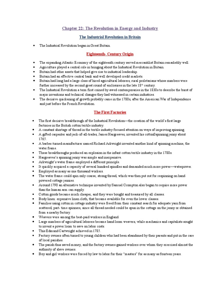 chapter 22 outline From: wadsworth cengage learning chapter outlines use this as a guide for mckay11, chapter 22 chapter 24: life in the emerging urban society i.