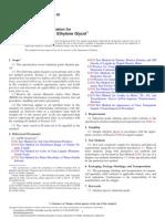 ASTM Standard Specification for Industrial Grade EG