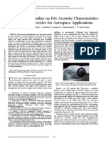 3D Numerical Studies on Jets Acoustic Characteristics of Chevron Nozzles for Aerospace Applications
