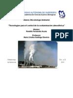Tecnologías Para El Control de La Contaminación Atmosférica