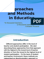 Approaches and Methods in Education
