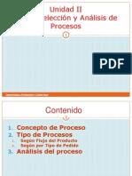 Unidad II Tema 2 Seleccion y Analisis Del Proceso PDF