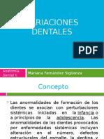Variaciones Dentales