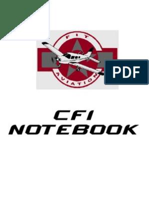 CFI Notebook | Flight Instructor | Recall (Memory)