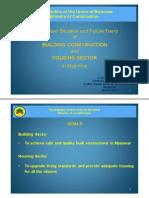 Buildingcontructionandhousingsectorinmyanmar-140913023825-phpapp01