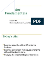 Lecture4(Number Systems & Binary Logic)