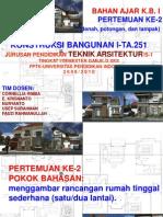 Konstruksi Bangunan 2 2008-2009