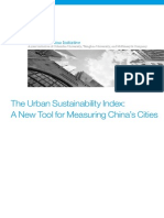 The Urban Sustainability Index - case of Chinese cities