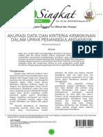 2015_2 2 Akurasi Data dan Kriteria Kemiskinan dalam Upaya Penanggulangannya