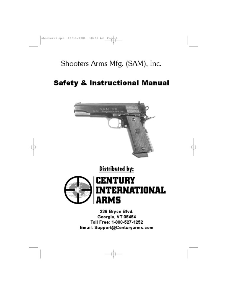 Shooters Arms Mfg. (SAM), Inc.: Safety & Instructional Manual
