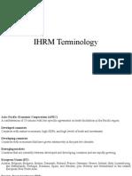 IHRM Terminology