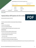 Integrating WebDynpro With UWL