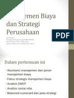Manajemen Biaya  dan Strategi  Perusahaan