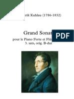 Kuhlau - Grand Sonate - Andante Sostenuto - Arr for 3 Flutes