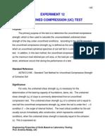 Experiment 13-Unconfined Compression
