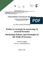 Politici și strategii de marketing în sectorul forestier