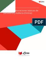 Curso Elaboraciones Basicas Panaderia Bolleria Online