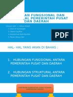 Hubungan Fungsional Dan Struktural Pemerintah Pusat Dan Daerah