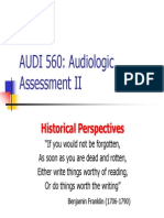 Historical Perspectives Audiology Test