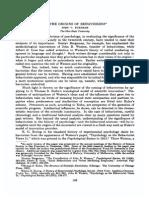 B - BURNHAM,J. - On the Origins of Behaviorism