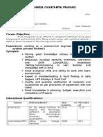 Chaitanya Prasad Resume(2)
