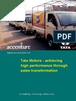 Accenture Tata Motors Sales Transformation Credential