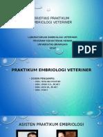 Briefing Praktikum Embriologi Veteriner.2013