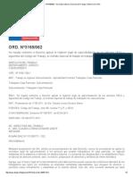 ORD. Nº3169_062 - Normativa Laboral. Dirección Del Trabajo. Gobierno de Chile