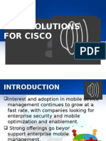 Mdm Solution for Cisco