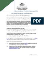 489 Applicant Checklist
