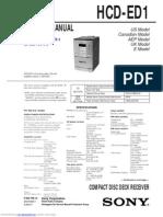 Sony HCD-ED1 Service Manual