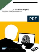 SAP Securing Remote Function Calls RFC