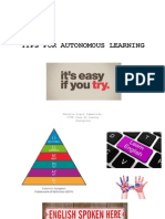 Tips for Autonomous Learning