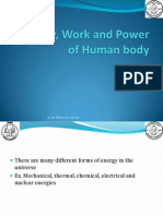 Energy, Work and Power of Human Body_3