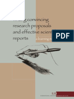 Writing Proposals and Scientific Reports