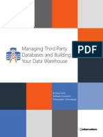 Managing and Building Your Data Warehouse