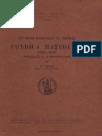 Condica Hategului -N. Iorga
