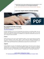 4 Recomendaciones Para Una Campaña Efectiva de Email Marketing