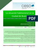 La Situacion Habitacional en La Ciudad de Buenos Aires - Febrero 2015 CESO
