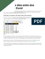 FECHAS-Contar Los Días Entre Dos Fechas en Excel