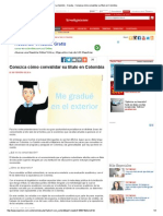 Conozca Cómo Convalidar Su Título en Colombia