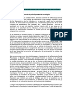Introdução à Psicologia Social Sociológica