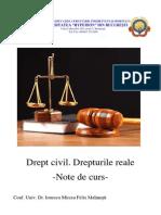 Drept civil - Drepturile reale - modul de curs.pdf