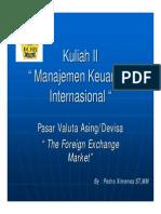 Kuliah II Mki Pasar Valuta Asing