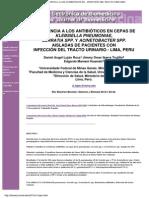 Resistencia a los antibióticos en cepas de Klebsiella pneumoniae, Serratia spp. y Acinetobacter spp. aisladas de pacientes con infección de tracto urinario-Lima, Perú - Electron J Biomed